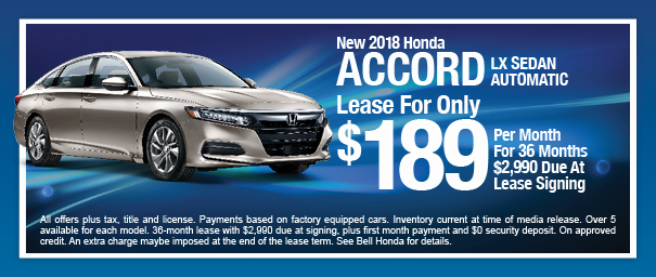 More People Than Ever Are Discovering The Benefits Of Leasing From Bell  Honda, Home Of The $100 Honda! Leasing Is A Great Way To Get Into A New  Honda Every ...